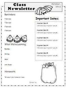 October L Newsletter Templates Editable For Word on