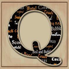 "GRANNY ENCHANTED'S BLOG: ""Halloween Words"" JPG Free Scrapbook Alphabet"