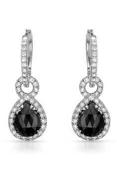 4.75 CTW Black Diamond 14K Gold Earrings - Enviius