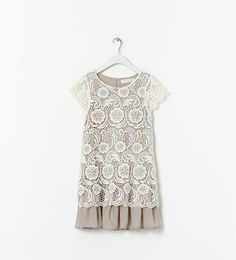 CONTRASTING EMBROIDERED DRESS - Dresses - Girl - New collection | ZARA.  Dress Elle tried on Friday.