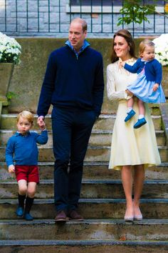 Prince William with wife Kate Middleton their children Prince George & Princess Charlotte