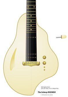 "Deadly Guitars ""Solway Rhondo"" 2013 prototype hybrid magnetic & piezo semi acoustic - © bil andersen 2013"