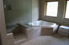 Bathroom Renovation by Hoganwerks Interior Renovations of Snowmass, Colorado  Glass Enclosure Shower and Tub
