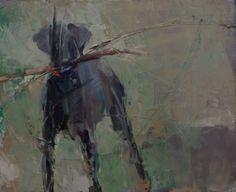 "Saatchi Art Artist Fanny Nushka Moreaux; Painting, ""COMMISSIONED Portrait Of a Dog (SOLD)"" #art"