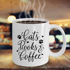 Family pet Cat mug Cats Books Coffee Cat gifts Pet mug | Etsy Funny Coffee Mugs, Funny Mugs, My Coffee, Coffee Cat, Cat Gifts, Cat Lover Gifts, Gifts In A Mug, Gifts For Friends, Gifts For Mom