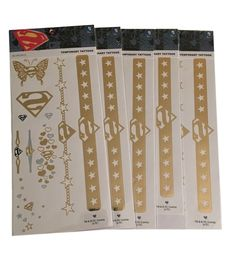 Superman Bling Temporary Tattoos Lot of 5 Packages Sealed New Costume Accessory