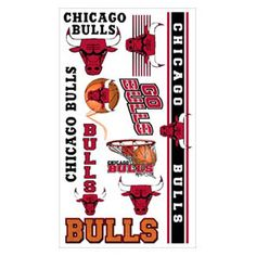 Chicago Bulls Temporary Tattoos by Wincraft #Chicago #Bulls #ChicagoBulls