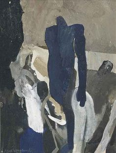 Keith Vaughan (English, 1912-1977), Study for three figures, 1965. Gouache, 7 x 5½ in.