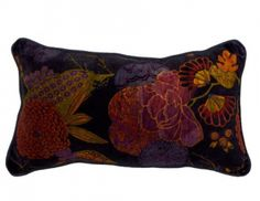 Midnight Rectangular Velvet Tropicana Cushion Cover