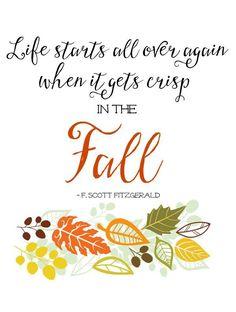 I love this fall printable. So true!
