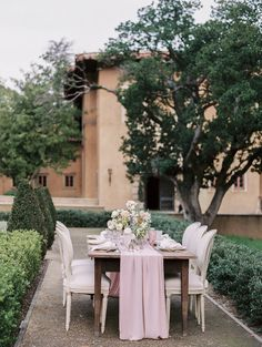 An outdoor reception