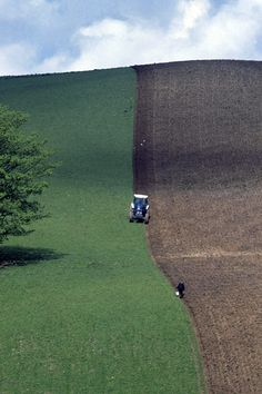 Watch the field behind the plough,  Turns to straight dark rows,  Put another seasons promise in the ground. Stan Rogers.