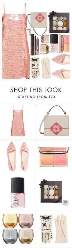 """#PolyPresents: Wish List"" by sunnydays4everkh ❤ liked on Polyvore featuring Miu Miu, Furla, Sophia Webster, NARS Cosmetics, Fizz & Bubble, LSA International, Gucci, contestentry and polyPresents"