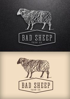 "Create a new logo for ""Bad Sheep Yarn Co."" by BoldnSimple"