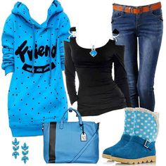 Shirt, sweatshirt, and pants Cute Casual Outfits, New Outfits, Winter Outfits, Fashion Outfits, Winter Clothes, Flat Boots, Winter Looks, Autumn Winter Fashion, Dress Up