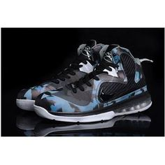buy popular e002c 6536e www.asneakers4u.com Nike LeBron 9 IX Leopard Shoes Black Blue Lebron 9