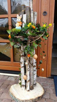 Twig Wreath, Door Wreaths, Birken, Art N Craft, Easter Wreaths, Easter Crafts, Decor Crafts, Indoor Plants, House Plants