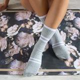 Sporty Stripe Crew Non Slip Grip Socks Grip Socks, Leg Work, Activewear, Calves, Sporty, Workout, Legs, Usa, Women