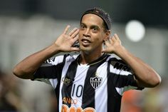 Ronaldinho, Brazilian footballer who plays as an attacking midfielder for Atletico Mineiro. He played for Brazilian National Football Team and he was a footballer of Gremio, Barcelona, Milan, PSG and Flamengo. He won a Ballon d'Or in 2006.