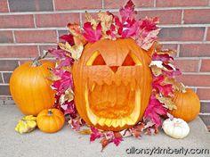 Leafy Lion Pumpkin