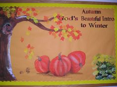 church bulletin board for fall