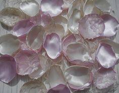 Petalworx Rose Pink Satin Rose Petals Table Scatter Petals Wedding Table Decor Flower Girl Petals Wedding Rose Petals Fabric Flower Pink Ivory Petals