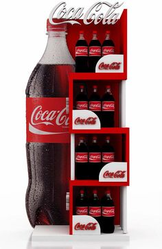 coke gondolas on Behance Can replace w an iced cup of coffee Pos Design, Stand Design, Coca Cola, Pos Display, Display Design, Merchandising Displays, Store Displays, Cardboard Display, Point Of Purchase
