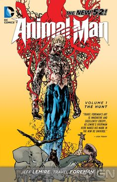 I'm pretty much in love with Animal Man Right now. I need to start reading Swamp Thing.