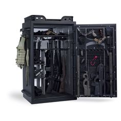 Awesome Browning Tactical Safe. Holds 40 guns along with a ton of accessories.  To bad it costs $3,700.00