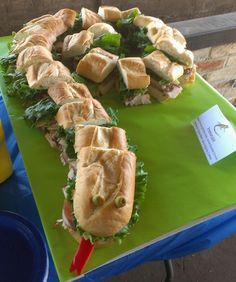 Snake sandwich for a reptile party!: