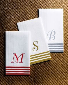 100 Personalized Guest Towels/Buffet Napkins at Neiman Marcus. For the personalized home guest towels and Buffet Napkins yesssss