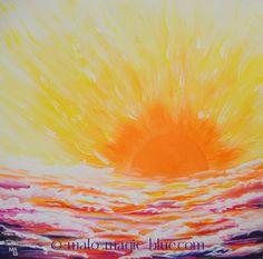 MaLo 2015 * Lass die Sonne in dein Herz! * Original Acrylbild auf Keilrahmen, 50… Acrylic Artwork, Mario, My Arts, Photo And Video, The Originals, World, Happy, Artist, Painting