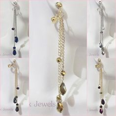 """CLIP ON 4"""" Faceted Glass Crystal Shoulder Duster XLong Dangle Drop Sexy Earrings #Unbranded #DropDangle"""