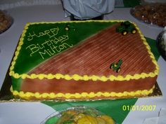 Farm birthday cake -- maybe try to combine this with the Steelers logo?