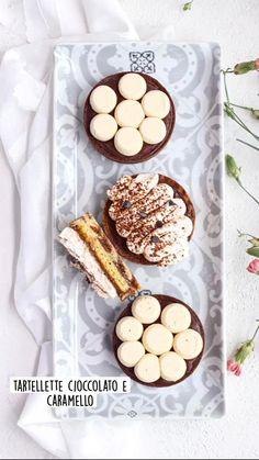 tartellette cioccolato e caramello