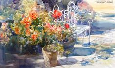 Watercolor painting by Tsukiyo Ono
