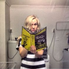 Womans Creativity Lends Charm To The Bathroom Mirror Selfie