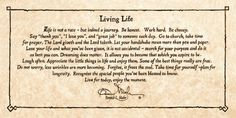 living life saying by bonnie mohr   Living Life by Bonnie Mohr   Things for My Wall