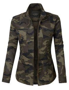 3ece30b2b0 Long-sleeved zipper striped sweater jacket. Gayla Rae · jackets ·  FALL   CAMO  OUTFITS  IDEAS  FASHION  2018 Camo Jacket Women