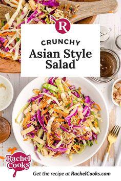 Healthy Coleslaw Recipes, Lunch Recipes, Whole Food Recipes, Vegetarian Recipes, Cooking Recipes, Ramen Noodles, Crispy Noodles, Bbq Chicken Salad, Creamy Coleslaw