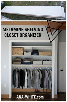 no paint no table saw ripping closet organizer DIY