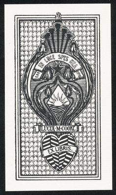 ART Nouveau Bookplate Exlibris PAR Artiste Anglais E Bengough Ricketts 1897 | eBay