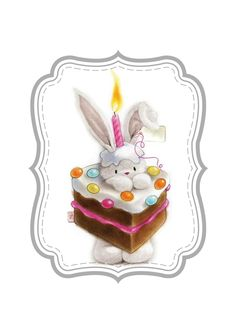 Bebunni Birthday Greetings, Birthday Cards, Happy Birthday, Cute Images, Cute Pictures, Easter Wallpaper, Scrapbooking, First Birthday Photos, Rabbits