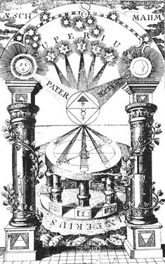 Friedrich Maurer, The Compass of the Wise, 1779, showing the rays of the planets being collected and then refracted