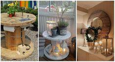 15 idées surprenantes à faire avec un touret Nautical Landscaping, Bois Diy, Laurier Sauce, Table Decorations, Landscape, Water, Tables, Furniture, Home Decor