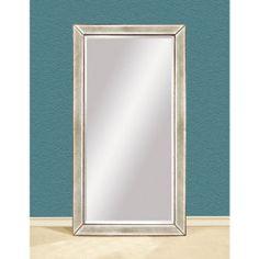 Bassett Mirror M2546B Beaded Leaner Antique Frame Floor Mirror M2546B - Reviews & Prices @ Yahoo! Shopping