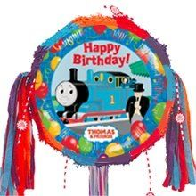 Thomas The Tank Engine Happy Birthday Pull Ribbon Pinata Kit by TrainWeb LLC. $15.99. Now you can create your own unique Thomas train pinata with this kit. Train pinata just for Thomas lovers. The picture features everyone's favorite Thomas the Tank Engine alongwith a locomotive engineer waving his hand and a conductor Sir Topman Hatt with