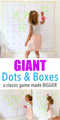 GIANT Dots & Boxes – HAPPY TODDLER PLAYTIME Looking for an indoor game your kids will love? Create a GIANT game of dots & boxes, a classic pen and paper game great for kindergartners and big kids! - Education and lifestyle Indoor Activities For Kids, Learning Activities, Preschool Activities, Outdoor Activities, Games For Preschoolers, Preschool Learning, Rainy Day Activities, Holiday Activities, Summer Activities