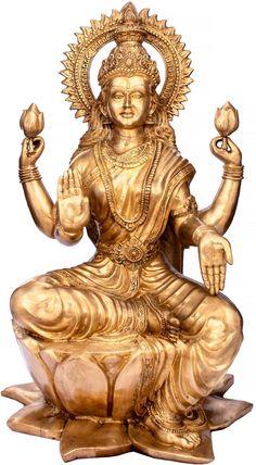 Brass inch Height x 33 inch Width x 24 inch Kg Lakshmi Statue, Krishna Statue, Indian Goddess, Goddess Lakshmi, Hindu Statues, Lakshmi Images, Lord Vishnu Wallpapers, Lord Murugan, Mother Goddess