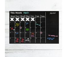 Chalkboard Month Planner - currently OFF! Christmas Gift Guide, Christmas Gifts, Kitchen Blackboard, Monthly Planner, Blackboards, Summer Activities, Chalkboard, Home And Garden, Xmas Presents